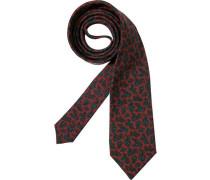 Herren Krawatte Edsor Wolle bordeaux