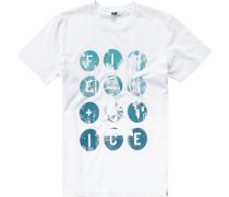 Herren T-Shirt Baumwolle gemustert