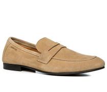 Herren Schuhe Loafer Veloursleder beige