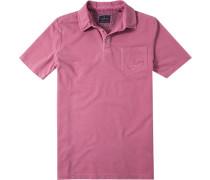 Herren Polo-Shirt Baumwoll-Piqué kirsch
