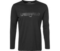 Herren T-Shirt Longsleeve, Baumwolle, schwarz