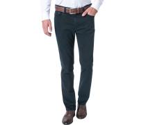 Herren Jeans Tailored Fit Baumwoll-Stretch dunkelblau