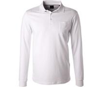 Herren Polo-Shirt, Regular Fit, Baumwolle, weiß