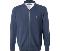 Cardigan Casual Fit Baumwolle navy