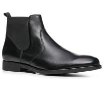 Herren Schuhe Chelsea Boots, Kalbnappa, schwarz