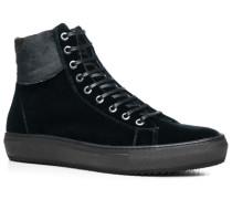 Herren Schuhe Stiefeletten Samt schwarz