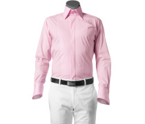 Herren Hemd Slim Fit Baumwoll-Stretch rosa