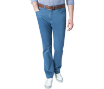 Herren Jeans Regular Fit Baumwoll-Stretch rauchblau