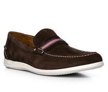 Herren Schuhe Slipper, Kalbleder, braun