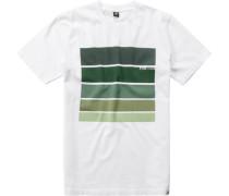 Herren T-Shirt Baumwolle -grün gemustert
