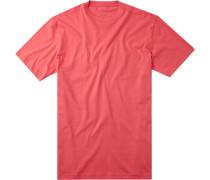 Herren T-Shirt Pima-Baumwolle koralle rot