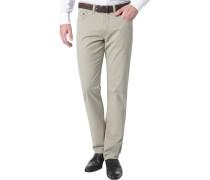 Herren Jeans Regular Fit Baumwoll-Stretch sand beige