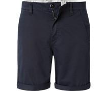 Hose Shorts Baumwolle navy