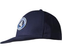 Herren   Cap Baumwolle navy blau