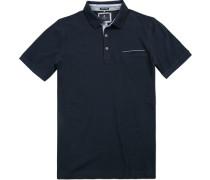 Herren Polo-Shirt, Baumwoll-Pique Airtouch, marineblau