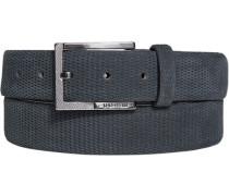 Herren Gürtel graublau, Breite 3,5 cm