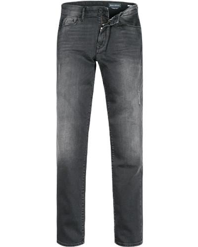 Jeans, Slim Fit, Baumwoll-Stretch, anthrazit