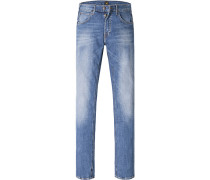 Herren Jeans Regular Fit Baumwoll-Stretch jeansblau
