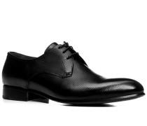 Herren Schnürschuhe, Kalbleder, schwarz