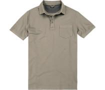 Herren Polo-Shirt, Baumwolle, grau