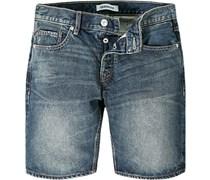 Herren Jeans Shorts Baumwolle denim blau