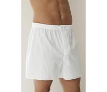Herren Schlafanzug Boxer-Shorts Baumwolle merzerisiert in 2 Farben blau,weiß