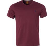 Herren T-Shirt Custom Slim Fit Baumwolle bordeaux