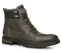 Herren Schuhe Stiefeletten Leder grau