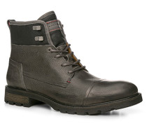Herren Schuhe Stiefeletten Leder grau grau,grau