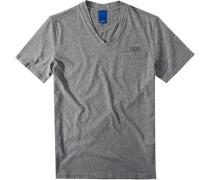 Herren T-Shirt Modern Fit Baumwolle meliert