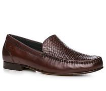 Herren Schuhe Mokassin Kalbleder dunkelbraun