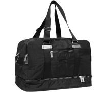 Herren Reisetasche, Microfaser, schwarz
