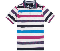 Herren Polo-Shirt, Modern Fit, Baumwoll-Jersey doppelt mercerisiert, multicolor gestreift