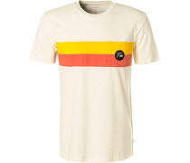 T-Shirt, Regular Fit, Baumwolle, off white