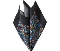 Herren Accessoires Einstecktuch, Wolle, multicolor gemustert