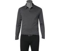 Herren Polo-Shirt Baumwolle graphit meliert