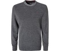 Pullover Baumwolle dunkel meliert
