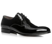 Herren Schnürschuhe Kalb-Lackleder schwarz schwarz,beige