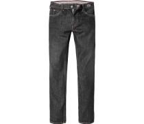 Herren Jeans, Regular Fit, Baumwolle, schwarz