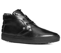 Herren Schuhe Desert Boots Leder warm gefüttert schwarz