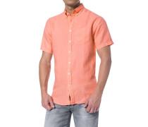 Herren Hemd, Leinen, Regular Fit, lachs orange