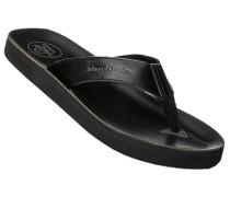 Herren Schuhe Zehensandalen, Rindleder, schwarz