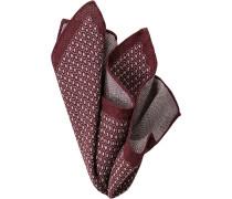 Herren Accessoires Einstecktuch Wolle bordeaux-hellgrau gemustert rot