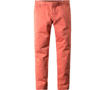 Herren Hose Chino Baumwolle koralle orange