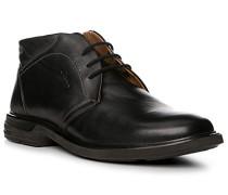Herren Schuhe Desert-Boots, Leder, schwarz