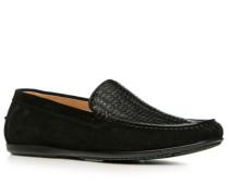 Herren Schuhe Slipper Kalbleder schwarz schwarz,braun