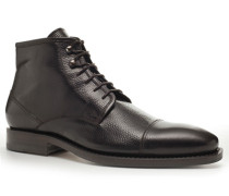 Herren Schuhe Schnürstiefeletten Kalbleder dunkelbraun