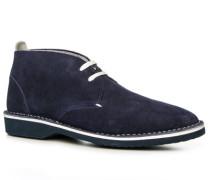 Herren Schuhe Desert Boots Kalbvelours marine blau