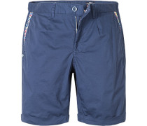 Herren Hose Shorts Regular Fit Baumwoll-Stretch marine blau