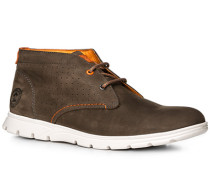 Herren Schuhe Desert Boots Nubukleder dunkelbraun